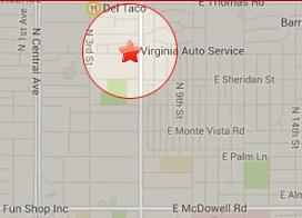 map of Virginia auto service