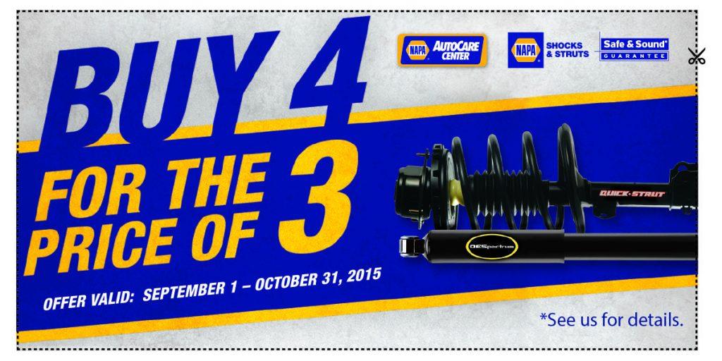 Buy 4 for the Price of 3 Shocks and Struts - Auto Repair Phoenix - Virginia Auto Service