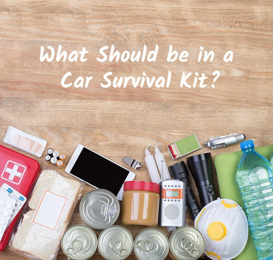 What should be in a car survival kit?